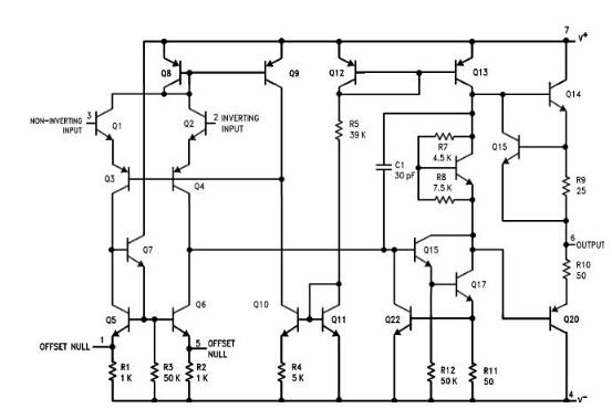 集成运算放大电路_UA741运算放大器使用说明 - 21icsearch中国电子元器件网